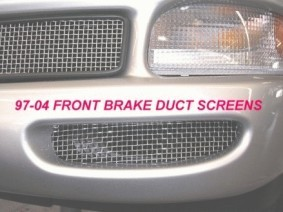 CORVETTE C5 BRAKE DUCT SCREENS GRILLE 97-04