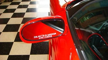 "Corvette ""Objects In Mirror Are Losing"" Decals"