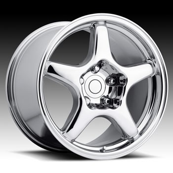 Corvette C4 84-96 ZR1 Style Rims - Chrome, Black & Silver