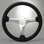 1968-1982 Corvette C3 Black Leather Steering Wheel