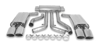 "C4 Corvette 90-96 Billy Boat 3"" Cat-Back Exhaust System w/ 4.5"" Tips"