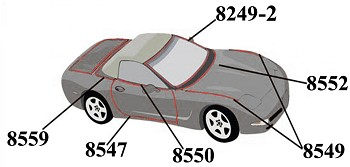 Corvette C5 98-04 Weatherstrip Kit Body Convertible Full 13 Piece