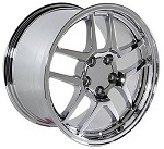 Corvette C5 97-04 Fitments Corvette Deep Dish 17x9.5/18x10.5 Chrome Z06 Wheels