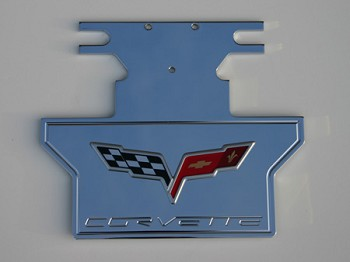 C6 Corvette 2005-2013 Rear Exhaust Plate - Engraved with Logo