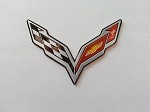 C7 Corvette Stingray/Z06 2014+ Crossed Flags Emblem - Mini