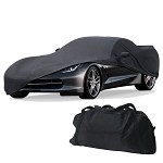Corvette C7 Stingray 2014+ Black Stretch Satin Car Cover