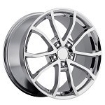 Corvette C5/C4 97-04 84-96 Fitments 2013 Corvette 427 Centennial Special Edition Cup Style Wheels (Set) Chrome 17x8.5 / 18x9.5