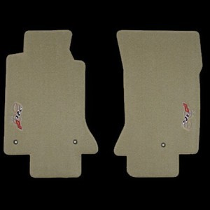 C5 Lloyds Corvette Classic Loop Floor Mats - sideways 50th Anniversary logo