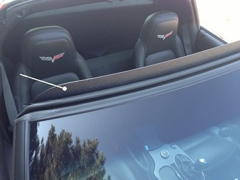 C6 Corvette 05-13 Wind Deflector - Coupe & Convertible