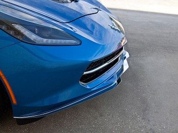 C7 Corvette Stingray 2014+ Polished Front Lip Spoiler