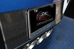 C7 Corvette Stingray/Z06 2014+ Carbon Fiber Tag Back w/ Stainless Trim