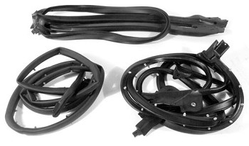 1986-1996 Corvette C4 Convertible Body Weatherstrip Kit 4 Pcs