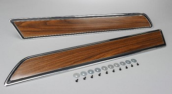 70-76 C3 Corvette Walnut Door Panel Trim Plates. Pair
