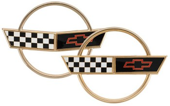 84-96 C4 Corvette Gold Emblem Set 2 Pieces
