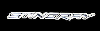 C7 Corvette Stingray Script Steel Sign 3 Sizes