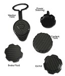 C6 C5 Corvette 97-13 Black Carbon Engine Cap Set