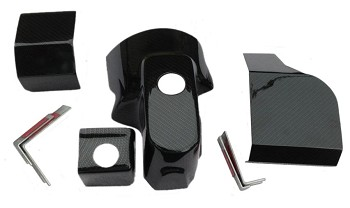 C5 C6 Synthetic Black Carbon Fiber Engine Dress Up Kit