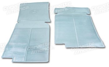 68-82 C3 Corvette Clear Vinyl Mats - Pair
