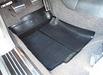 68-82 C3 Corvette Black Rubber Floor Mats - Pair