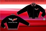 C6 Corvette Nylon Fleece Lined Jacket - Light Weight