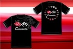 C6 C5 C4 C3 Corvette Crew Shirt w/ All Logos