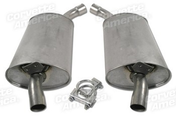68-82 C3 Corvette Aluminized Low Profile Mufflers