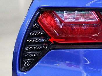 C7 Corvette Stingray 2014 + Stainless Steel Rear Taillight Grilles Pair