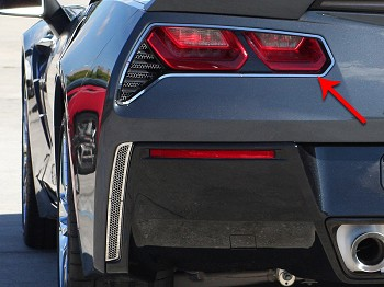 C7 Corvette Stingray 2014+ Stainless Steel Taillight Trim Ring Pair