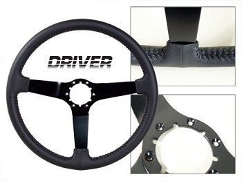 68-82 C3 Corvette Driver Black Leather Steering Wheel