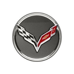 C7 Corvette Stingray/Z06 2014+ GM Center Cap - Crossed-Flag Logo