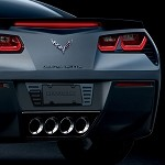 C7 Corvette Stingray 2014+ Custom Painted Billet License Plate Frame