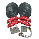 GM Z06 Calipers, Performance  Rotors and Brake Pad Kit W/ Brake Lines 05-13