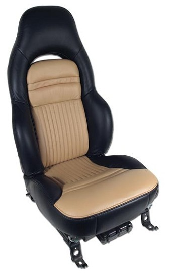 C5 Corvette 100% Leather Seat Covers - 2 Tone