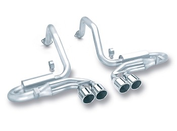 C5 Corvette Borla Cat-Back Exhaust System - Quad Exit Stinger Style