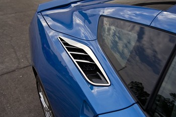 C7 Corvette Stingray 2014+ Polished Rear Quarter Vent / Fins Set - 10 pc