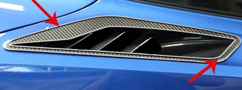 C7 Corvette Stingray 2014+ Carbon Fiber Rear Quarter Vent Set - 2 pc