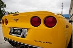 Corvette C6 Polished Tag Back/Frame - Billet Style