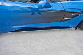 C7 Corvette Stingray 2014+ Stainless Steel w/ Carbon Fiber Side Skirts