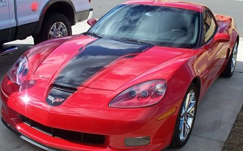 C6 Corvette 05-13 Solid 427 Hood Stripes