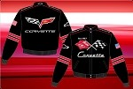 C6 C5 C4 C3 Corvette Collage Jacket w/ C3 Front Logo and C6 Back Logo