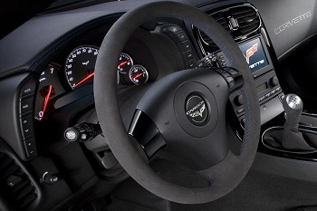 Corvette C6 Carbon Edition Suede Steering Wheel- 2 Stitching Color Choices