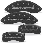 Corvette C5 97-04 Brake Caliper Cover Set (4) - Carbon Fiber