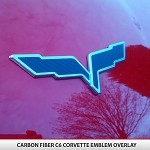 C6 Corvette Blackout Set Front/Rear Emblem Flags - NEW COLORS AVAILABLE!