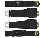 1968 C3 Corvette Retractable Lap Seat Belts, OE Style, Pair