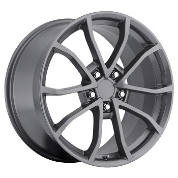 C6 Corvette 60th Anniversary Gray Wheels 18 x 8.5 / 19 x 10 Set