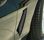 C6 Corvette 2005-2013 Side Vent Grilles - Stainless Steel - 3 Finish Options