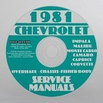 C3 Corvette 1963-1981 Service Manual - CD