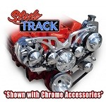 C3 Corvette 1968-1982 Style Track Billet Alternator & Power Steering Accessory Serpentine System - All Inclusive Kit