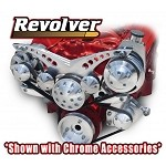 C3 Corvette 1968-1982 Revolver Billet Alternator & Power Steering Accessory Serpentine System