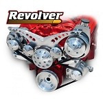 C2 C3 Corvette 1963-1982 Revolver Chrome Alternator & Power Steering Serpentine System - All Inclusive Kit